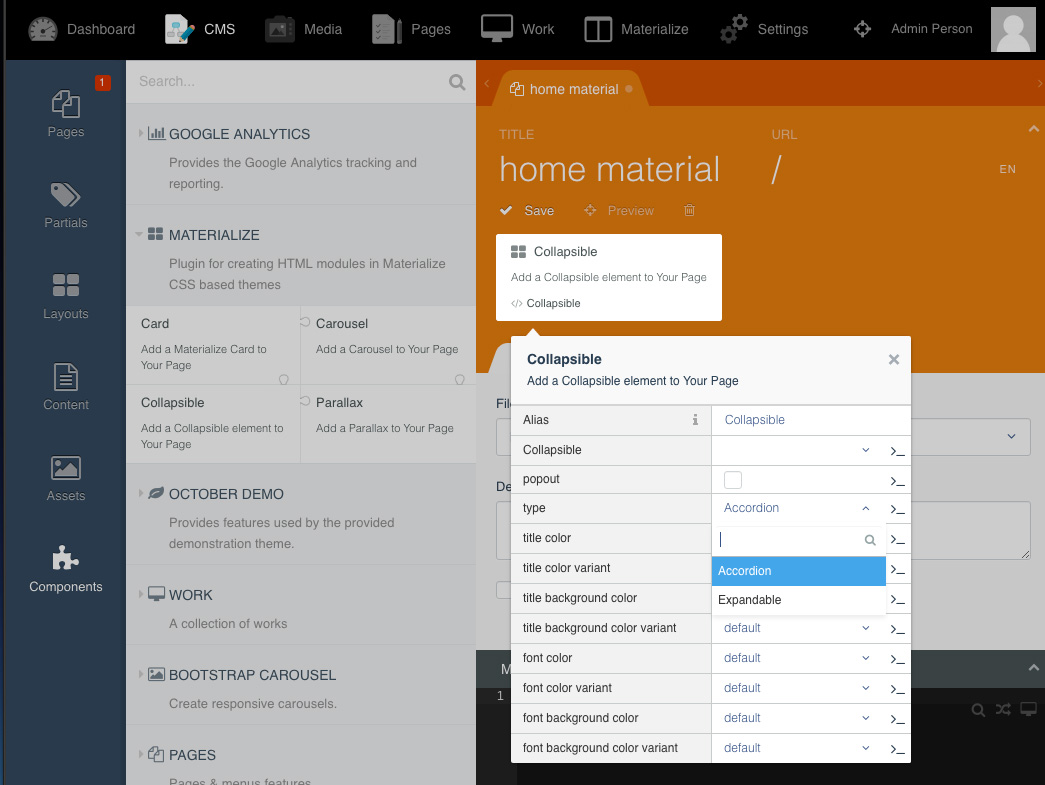 Materialize plugin october cms for How to materialize