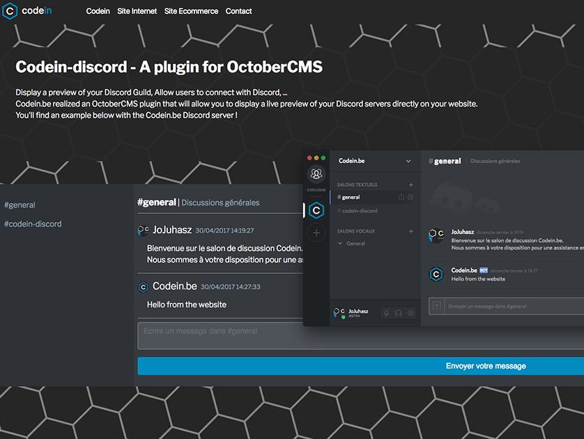 Discord API Integration plugin - October CMS