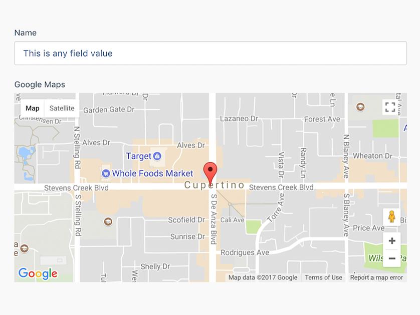 Backend Google Maps plugin - October CMS