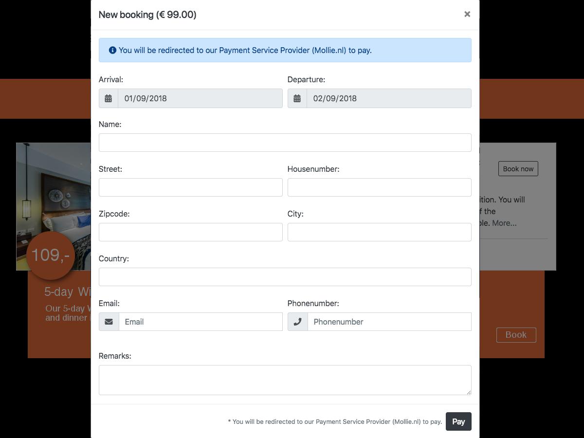 Room Booking Pro plugin - October CMS