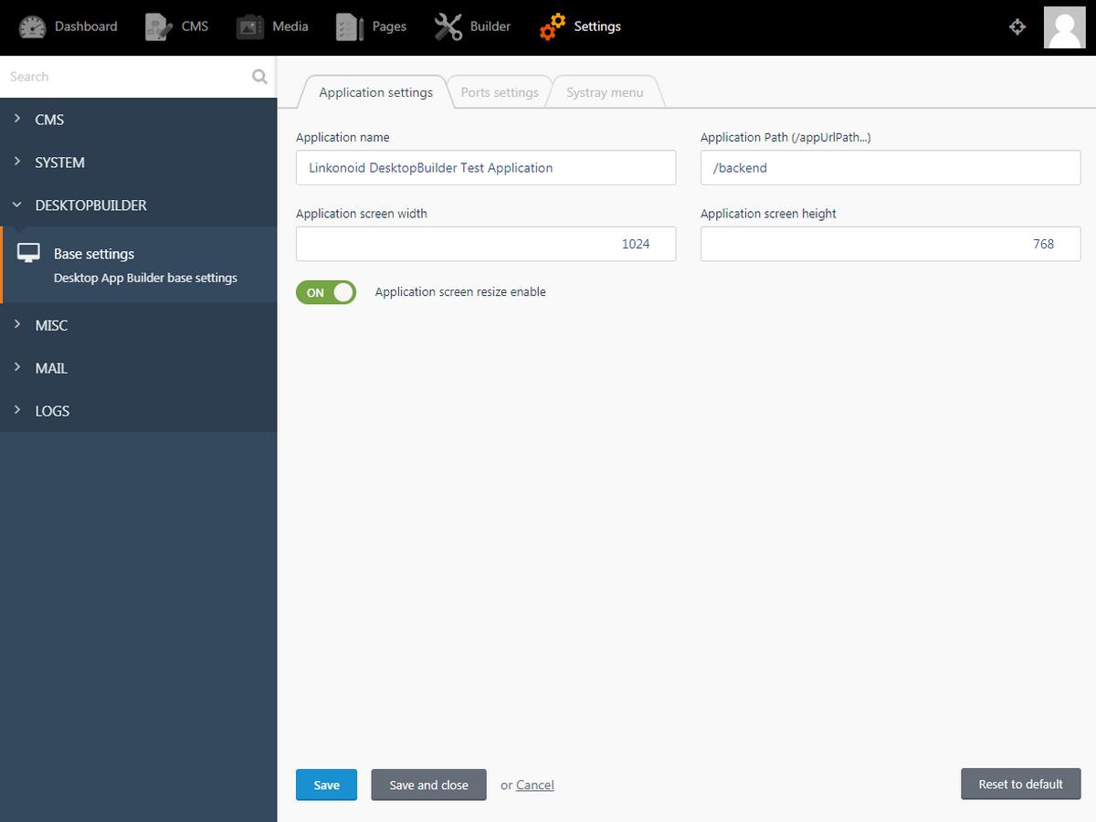 Desktop application builder plugin - October CMS